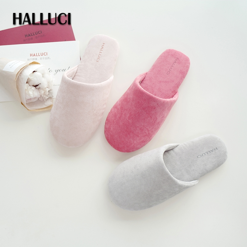 HALLUCI летние замшевые носок Дамские тапочки обувь дом пары pantufa дамы terlik женские домашние тапочки sapato feminino шлепанцы