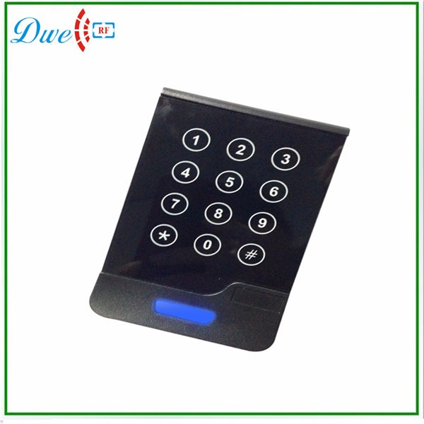 DWE CC RF Touch Screen Wiegand 34 RFID Reader Access Control with keypad dwe cc rf 2017 hot sell 13 56mhz 12v wg 26 rfid outdoor tag reader for security access control system