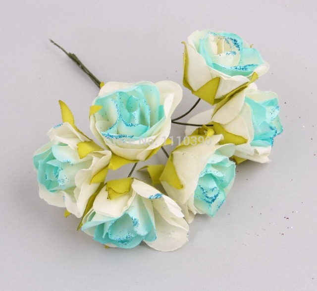 3CM Artificial roses bouquets,Mulberry paper roses,tissue paper ...