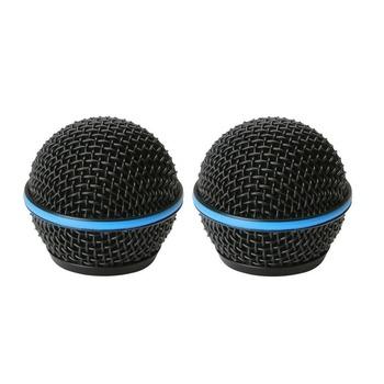 Bolymic metalowa głowica kulowa mikrofon kratka mikrofonów pasuje do Shure Beta58 Beta58A mikrofon profesjonalny etap mikrofonów tanie i dobre opinie microphone Grille Pojedyncze Mikrofon Mikrofon ręczny wireless Kardioidalna BJ-2002 Metal Ball Head Microphone Grille Mics Fits Beta58 Beta58A Micro