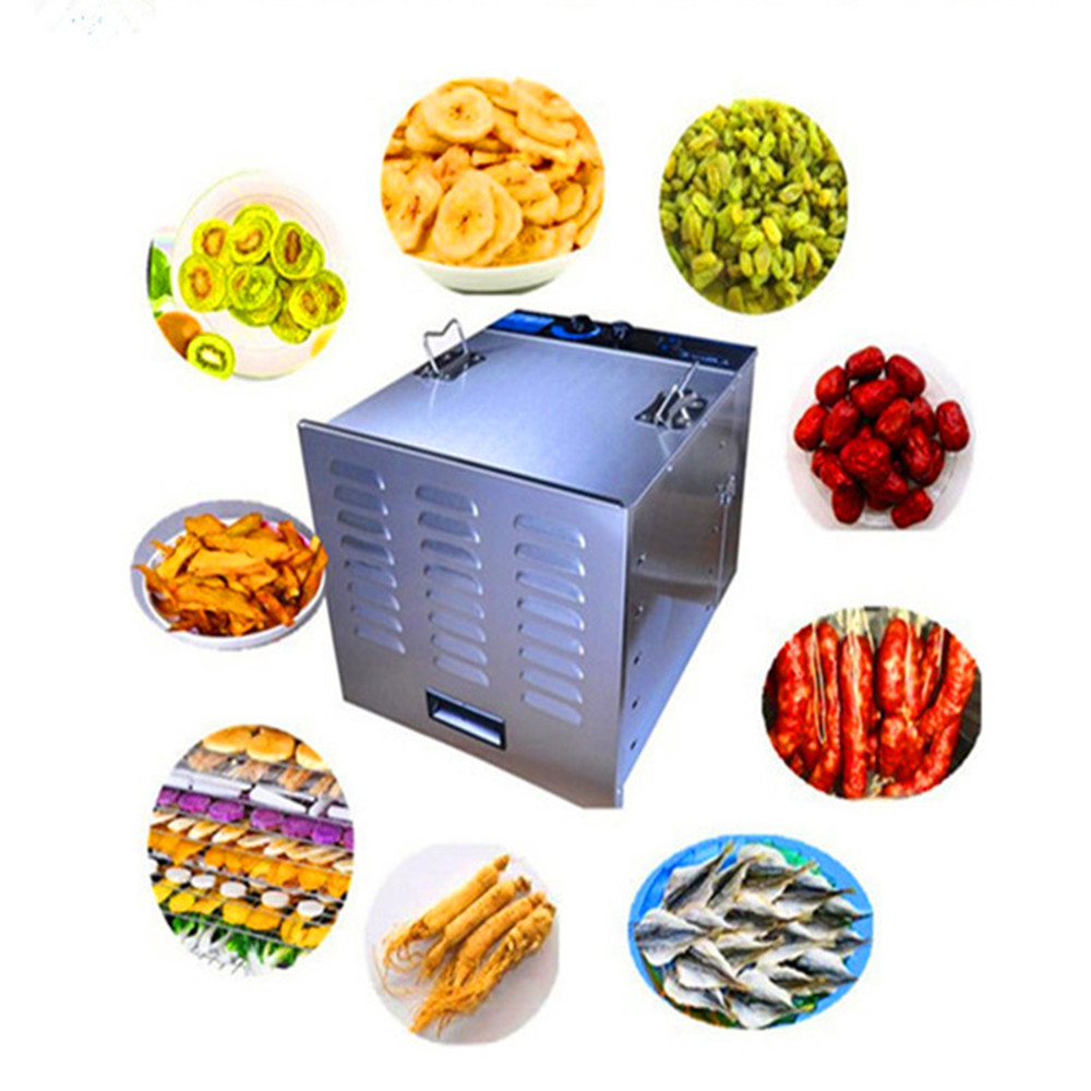 Industrial commercial food dehydrator electric stainless steel fruit dryer machine small home use vegetable drying machine   ZF