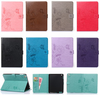 For Apple IPad 2 3 4 9 7 Case Emboss Butterfly Flower Painting Wallet PU Leather