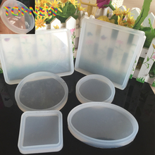 Silicone Geometric Plate Dish Display Resin Mold Making Jewelry Holder Mould Tool DIY Hand Craft