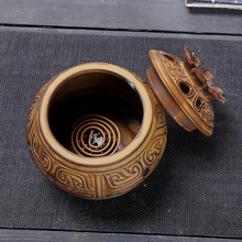 Retro Incense Burner Tower Incense Burner Incense Stick Incense Coil Holder Ceramic Censer Decoration