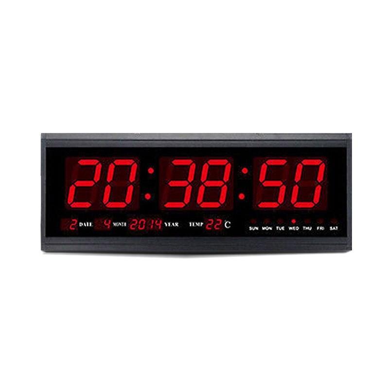 Offre spéciale Hot numérique grand grand Jumbo mur LED réveil de bureau avec la température du calendrier