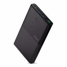 Vinsic 30000mAh Power Bank 4.8A 19V AC Output Dual USB External Battery Charger for Laptop Notebook iPhone X 8 8 Plus Smartphone