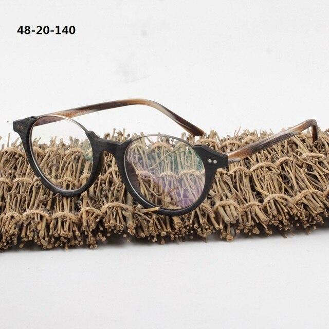 Vazrobe Acetato Óculos de Armação Homens Mulheres Grão De Madeira Do  Vintage Retro Óculos para Maquiagem 3374a323ec