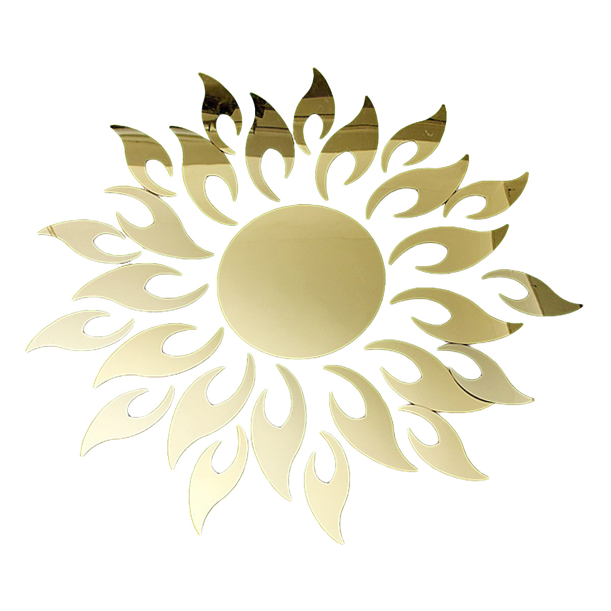 Gold 3D Acrylic Sunflower Mirror Effect Sticker Home Wall Decoration ...