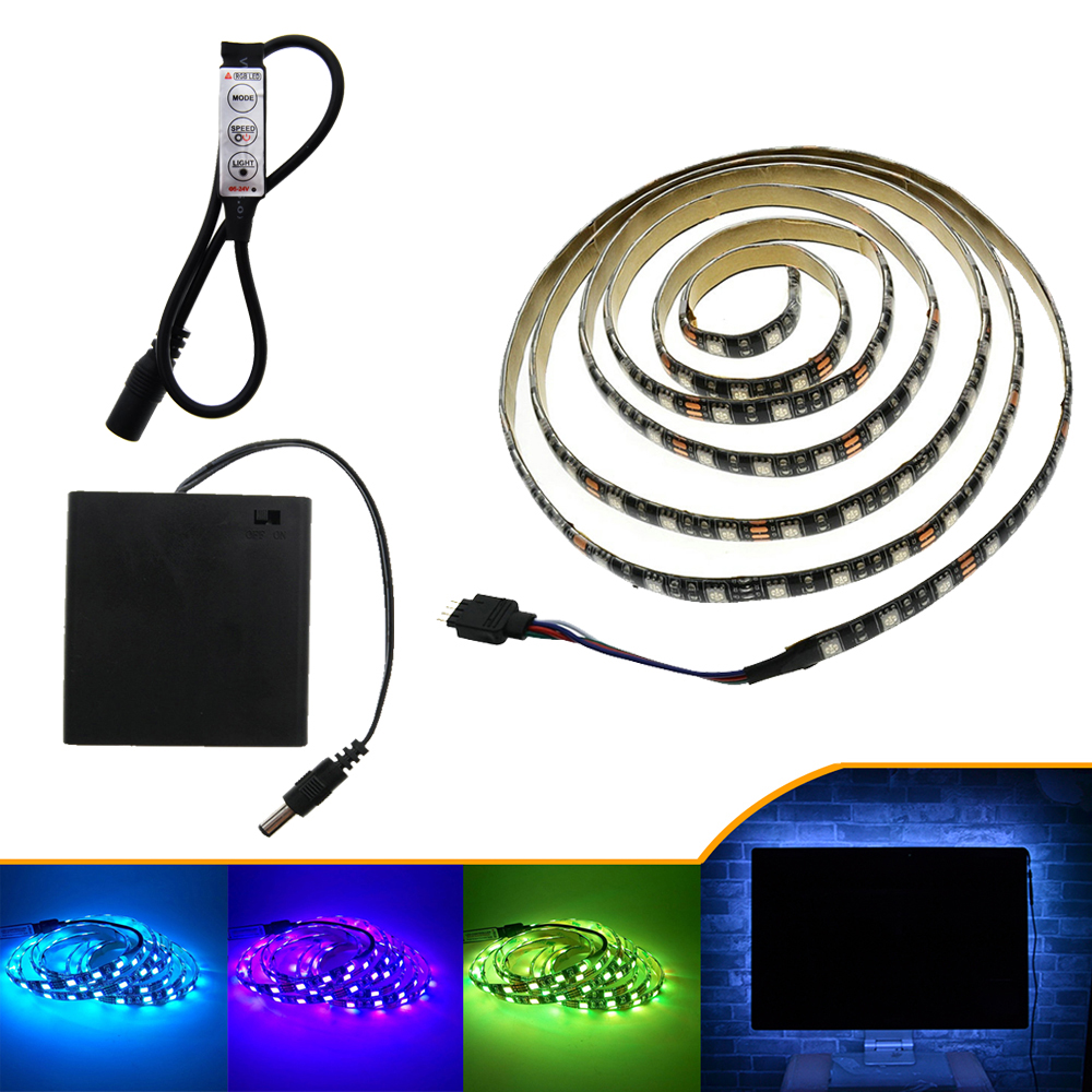 LED Strip 5050 RGB Black PCB 5V IP20 / IP65 Vattentät Tape Lighting - LED-belysning