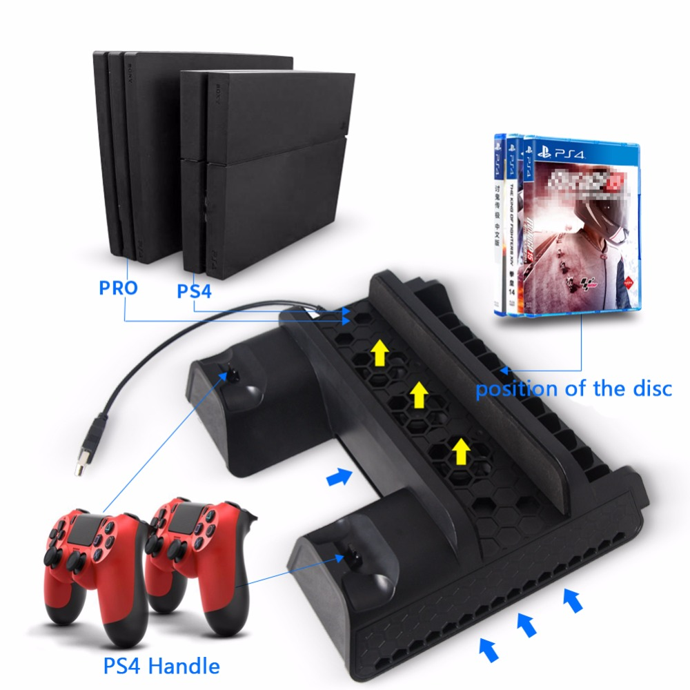 все цены на OOTDTY 1 PC Black 5V Vertical Stand Dual USB Charger Cooling Dock Fans For Pro Console PS4 Slim PS4
