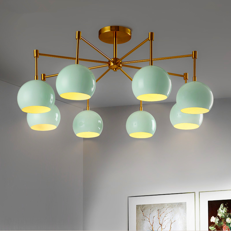 Nordic postmodern simple hanging lights creative personality living room chandelier bedroom restaurant LED chandeliers postmodern minimalist fans glass art decor chandeliers g9 6 9 heads creative pendent lights living rooms dining room bedroom