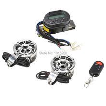 Set New Motorcycle Audio System FM MP3 Speaker Amplifier Handlebar Stereo Sound System Alarm Anti-Theft+2 Waterproof Sperkers