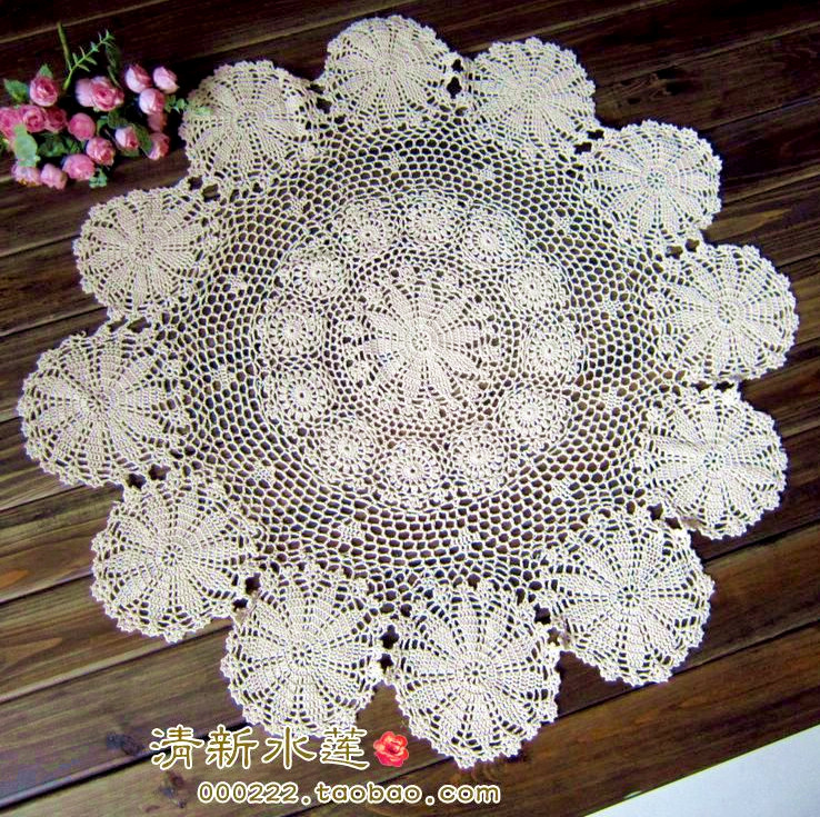 Free Shipping Zakka Crochet Tablecloth Fashion Vintage