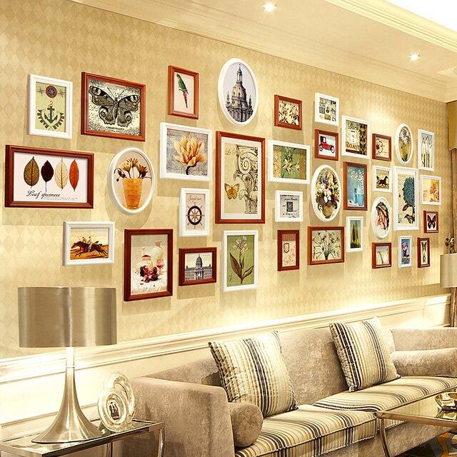 Lujo foto marcos de madera foto fraems pared para marcos combinación ...