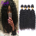 Brazilian Virgin Hair Kapelli Kinky Curly Virgin Hair 8A Brazilian Hair Weave Bundles Jerry Curly Human Hair 4 pcs fast shipping