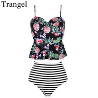 Trangel New Bikini Women Swimwear High Waist Bikini Push Up Vintage Bikini Set Retro Biquini 2017