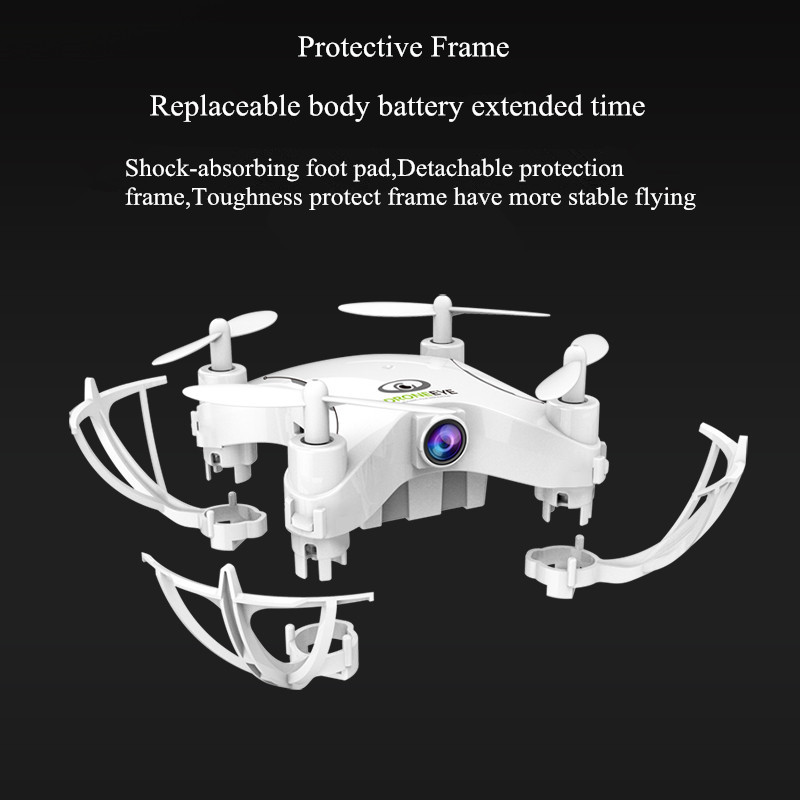 Mini Fall-resistant RC Helicopter Aircraft Headless Mode Drone Quadcopter With HD Camera Wifi FPV Remote Control Helicopter Kids