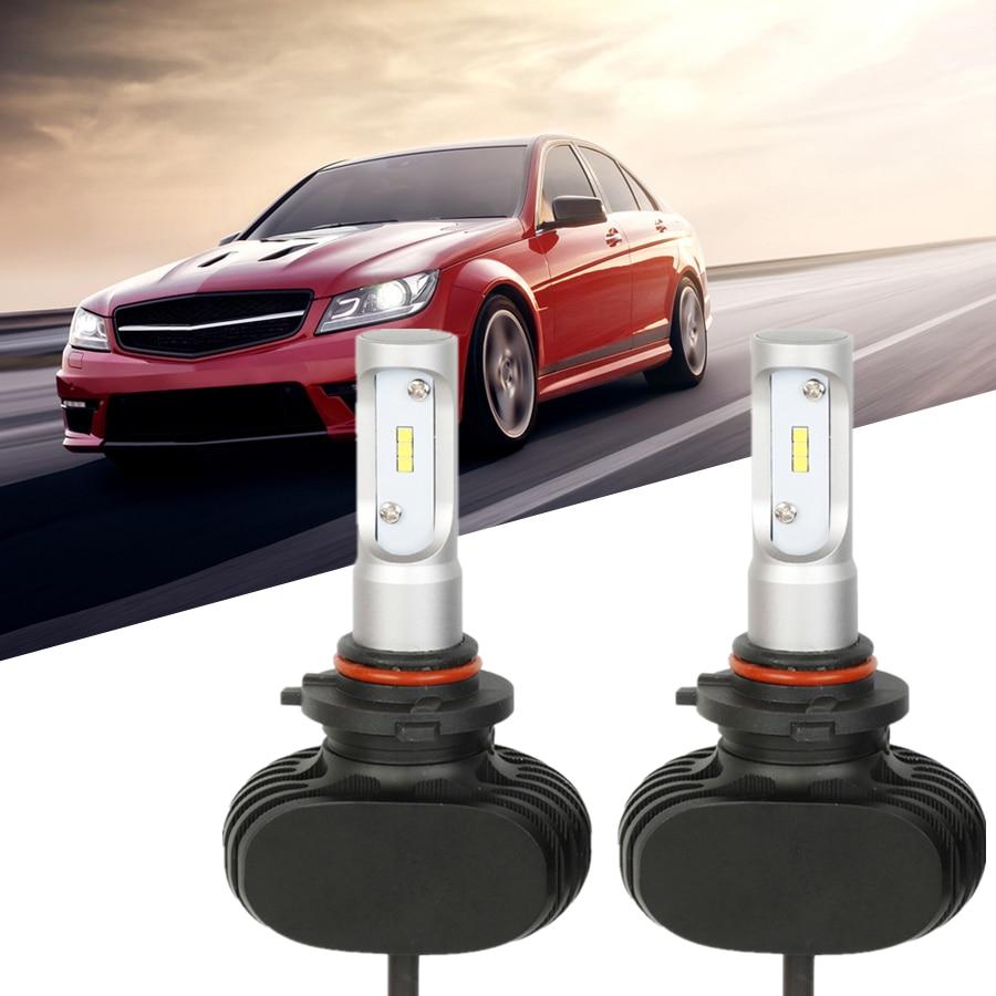 H4 H7 H11 H13 HB4 9006 9007 Car Led Headlight 6000K White CSP LED Bulbs Fan-less H11 Fog Lamps for Opel BMW luces led para Auto