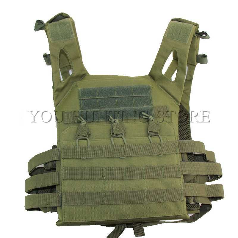 Outdoor Molle JPC Vest Simplified Version Vest Tactical Hunting Combat Chest Protective Plate Carrie Vest for Paintball CS Games