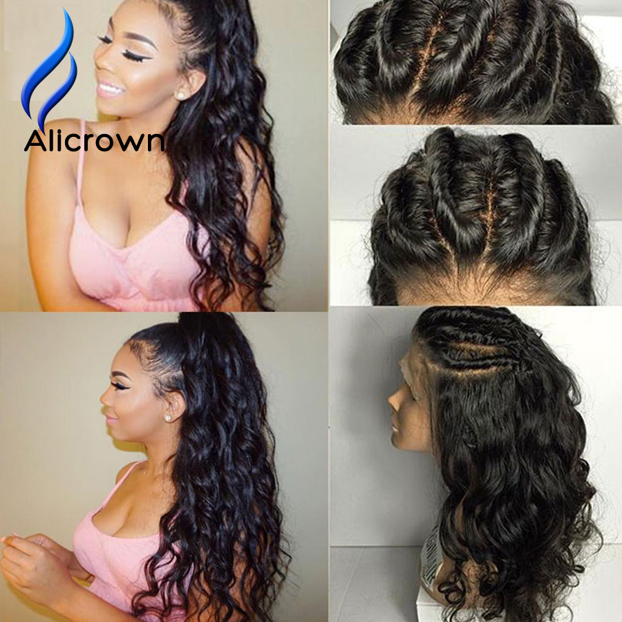 Alicrown Full Lace Human Hair Wigs For Black Women Wet