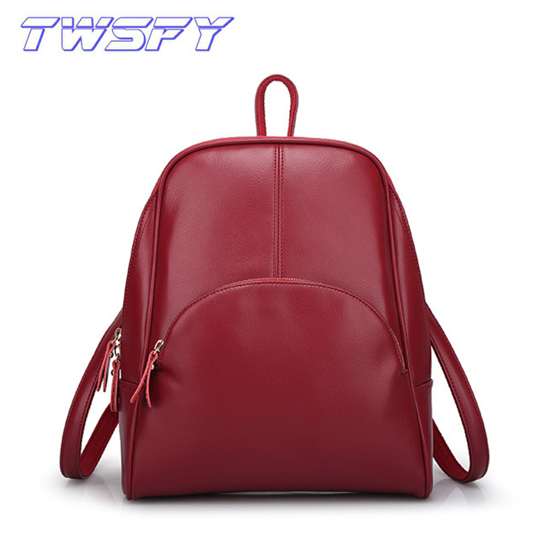 TWSFY Women Backpacks Women'S PU Leather Backpacks Female School Shoulder Bags Teenage Girls College Student Casual Bag menghuo casual backpacks embroidery girls school bag female backpack school shoulder bags teenage girls college student bag