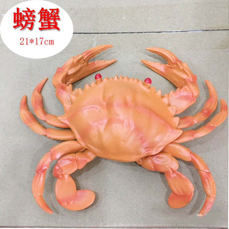 simulation lobster crab model PVC crayfish big crab fake hairy crab photography early teaching toys The best gift for children large size promotional gifts home photography simulation foam peach fake fruits kids toys early education kitchen