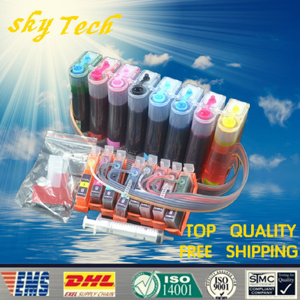 FULL INK CISS suit For canon Pro9000 , suit For CLI8 BK C M Y PC PM R G Series 8 Color cartridgs ,,with Auto reset chips