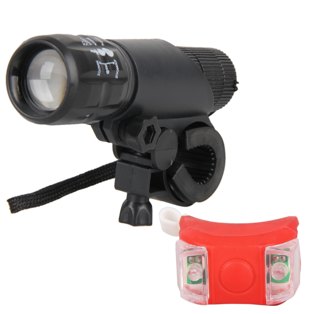Bike LED Lights Bicycle Front Lighting Safety + Rear Flashlight Torch Lamp+ Gift Box Bicycle Accessories