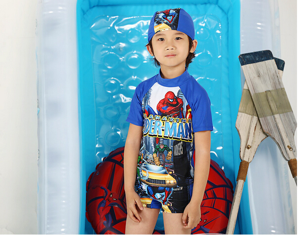 3517a15ccd Fashion Spider-man Print Boys One-Piece Surfing Swimsuit UV Protection Kid's  Professional Rash