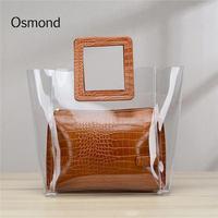 ce38b925d Osmond 2018 Hot PVC Bag Ins Clear Plastic Women S Handbag Big Summer Beach  Bags Transparent