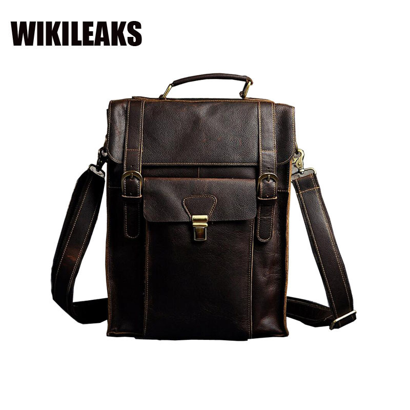 Imported Crazy Genuine Leather European Ancient Ways Man Capacity 14 Inch Both Shoulders Backpack Computer Package 2106 european ways of law