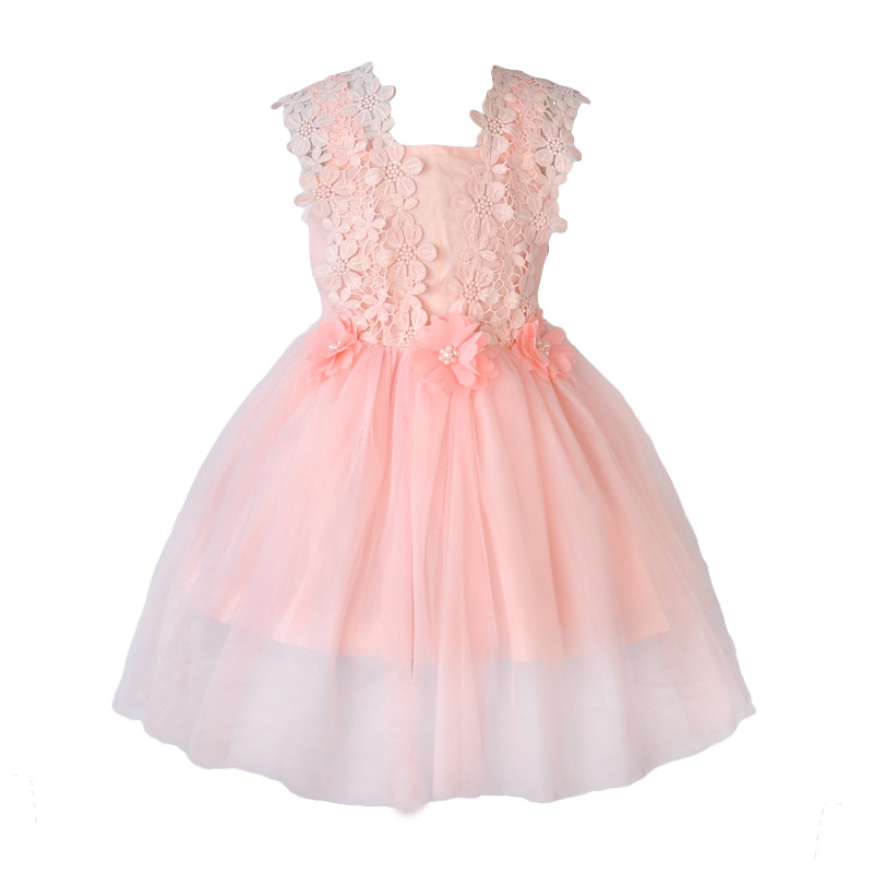 Flower Girl New Party Dress Summer 2017 Tulle Wedding Birthday Princess Dress Girl Dresses Children Clothing Kids Clothes dress new flower girls dress summer kids girl clothing wedding party prom floral dresses sleeveless clothes children princess dress