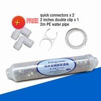 10 inch Nano Silver Magnetic Energy Weak Alkaline Inline Replacement Water Filter Cartridge