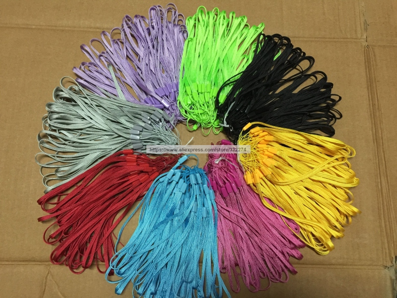 8 Colors High Quality Cheap Phone String Strap Lanyards Short Colorful 17CM length Lanyards Mix Sell