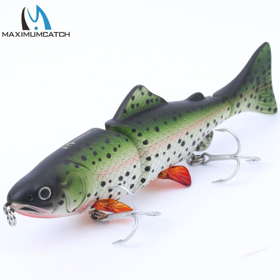 Maximumcatch lebensechte 3 verbunden abschnitt swimbait fischerei lockt hartes angelköder mit vmc haken crankbait künstliche köder