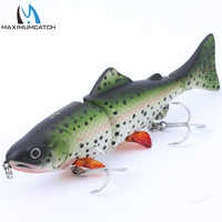 Maximumcatch Life-like 3 Jointed Section Swimbait Fishing Lures Hard Fishing Lures With VMC Hooks Crankbait Artificial Bait