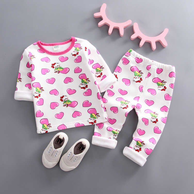 Bibicola Baby Mädchen Pyjamas Anzüge Infant Kinder Cartoon Langarm Nachtwäsche 2 Stücke Sets Toddle Kinder Casual Fleece Outfits
