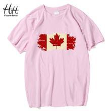 HanHent Kanada Flagge 2016 Neue Mode T-shirt Baumwolle hülse T-shirt Kanadischen Ahornblatt Sommer Stil Fitness t-shirt männer(China)