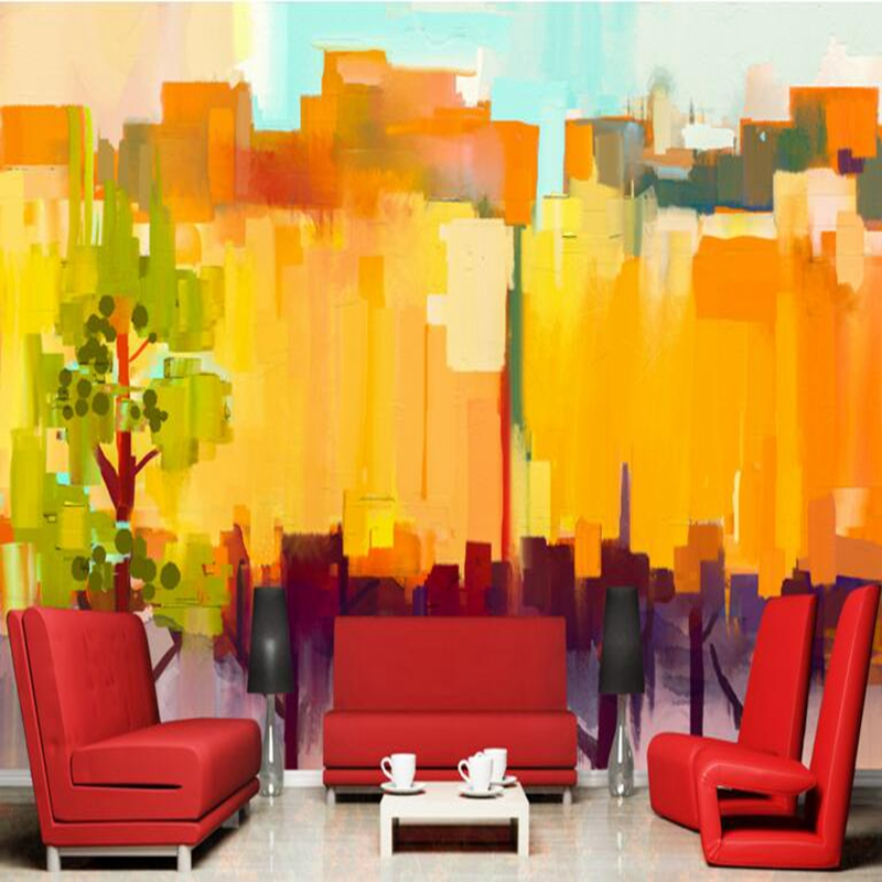 US $21.54 47% OFF|Large Wall Decor Ideas Nature Photos Hd Abstract Color  Tree Background Boys Bedroom Wallpaper Living Room Wallpaper Room Decor-in  ...