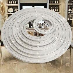 Superficie Liscia di Facile Installazione Pesante Alluminio Rotante Cuscinetto Turntable Banco di mostra della Tabella di Girata Rotonda Girevole-Piastra Avvitato o Fisso