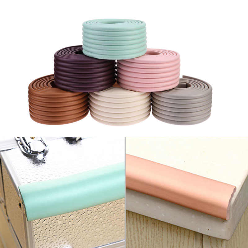 1pc 2M Baby Safety Table Desk Strip Edge Corner Cushion Guard Strip Soft Kids Children Safe Protection Bar Strip Thicken Bumper