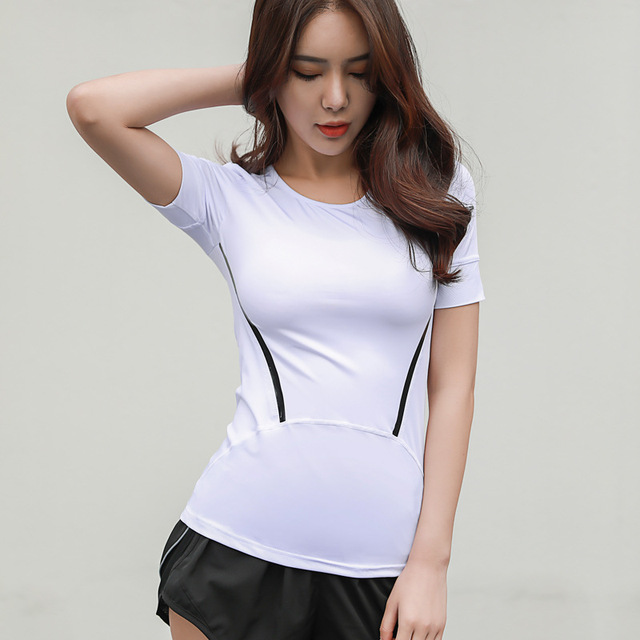 Summer Yoga Tops Short Sleeve Sports T Shirts