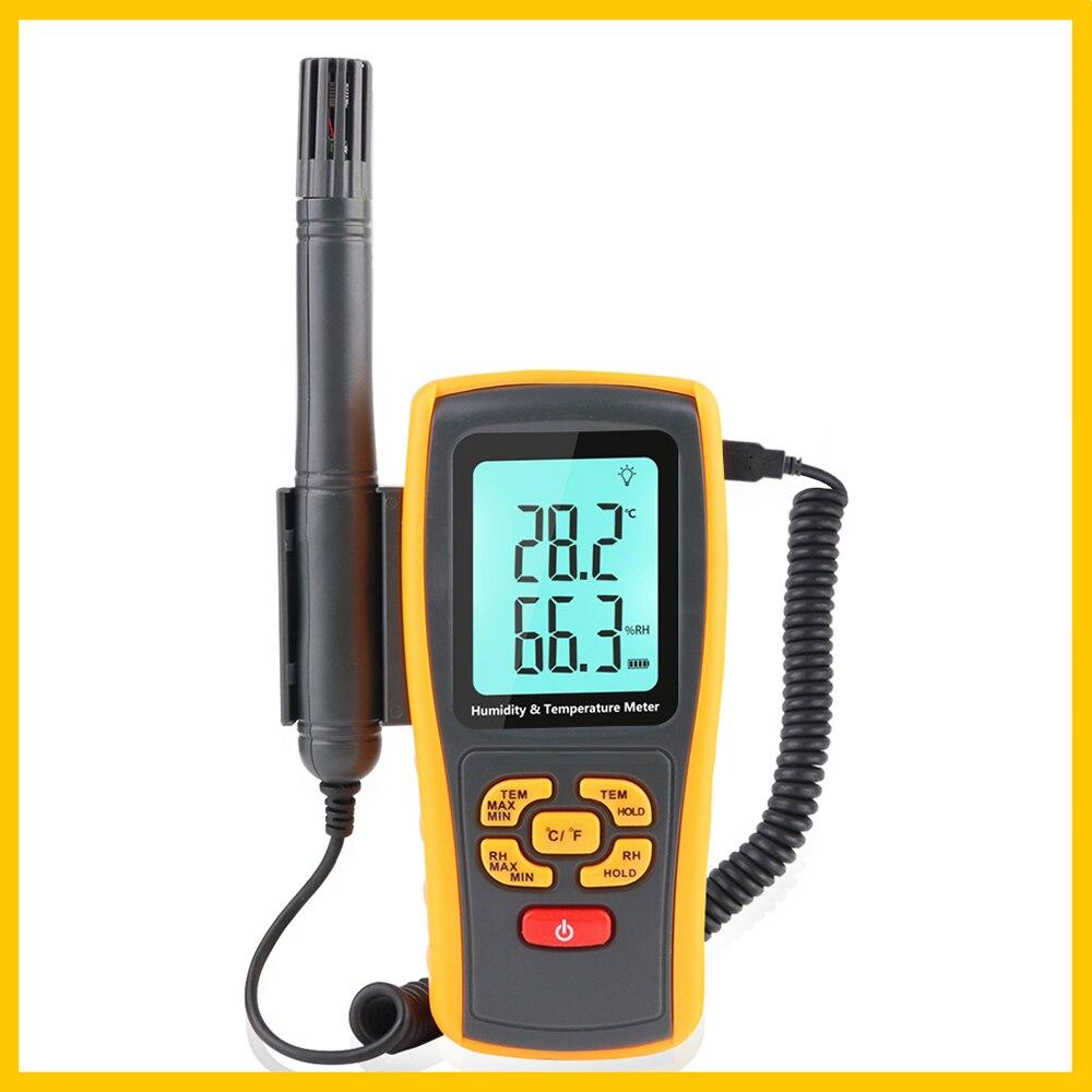 RZ GM1361 Páratartalom-hőmérséklet-mérő nagyméretű, dupla LCD - Mérőműszerek - Fénykép 2