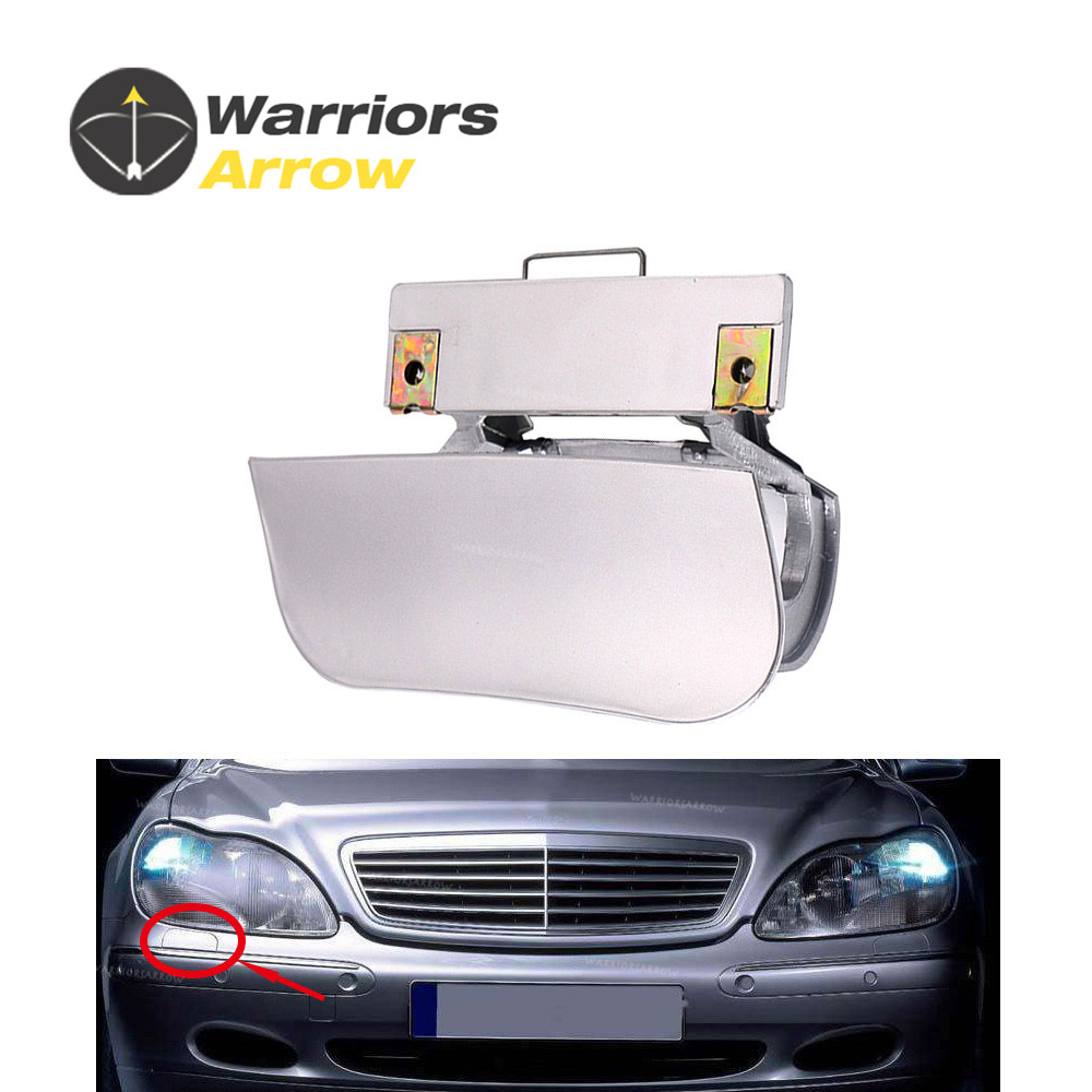 hight resolution of 2208800405 for mercedes benz w220 s430 s500 s600 s55 amg front bumper headlight washer nozzle cover cap random color right