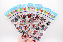& 6 sheets/lot 3D Puffy Bubble Stickers Cartoon Spider Man DIY For Children Toys PVC Removable Free Shipping