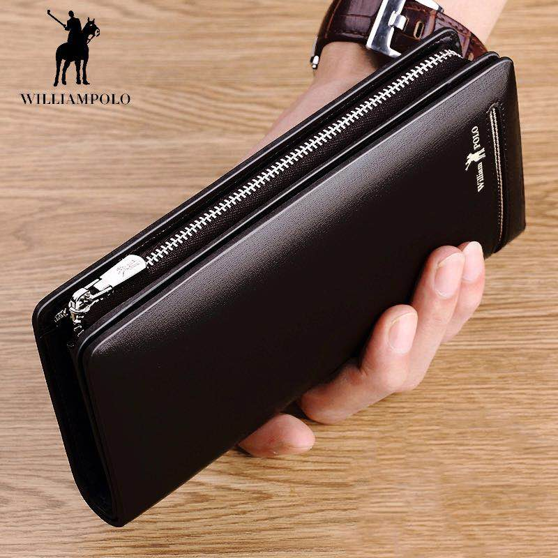 Brand Fashion Clutch Male Wallet Men Wallets Genuine Leather Wristlet Men Clutch Bags Coin Purse Men's Wallet Leather Male bostanten wristlet split leather men wallets zipper coin purse holders design leather male wallet large capacity wallet for men