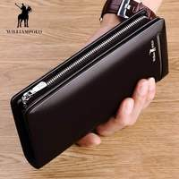 Brand Fashion Clutch Male Wallet Men Wallets Genuine Leather Wristlet Men Clutch Bags Coin Purse Men's Wallet Leather Male