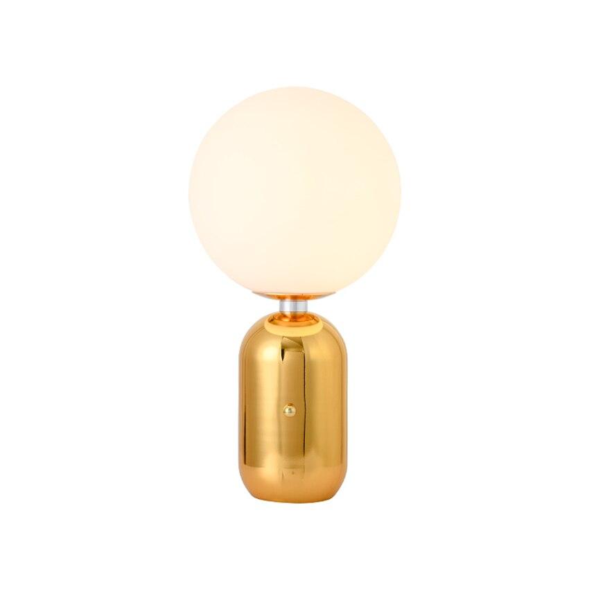 Moderne LED Table Lumières D'or Chambre Table De Chevet Lampes D'art Chaud Lampe de Table Boule Décor D'éclairage Applique Lampes Luminaires