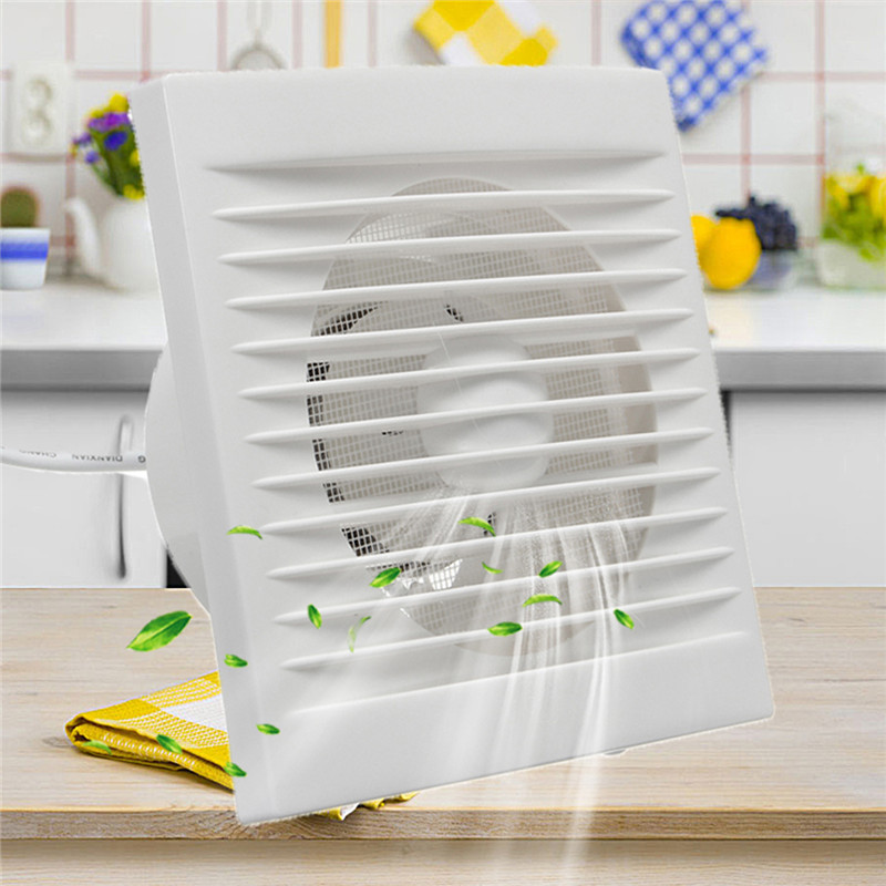 12W 220V White Hanging Wall Window Glass Small Ventilator Extractor Exhaust Fans Toilet Bathroom Kitchen Fan Hole Size 110x110mm