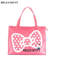 Hello Kitty genuine bow tie fashion trend lady shopping bag waterproof travel bag Super size As a mother's bag
